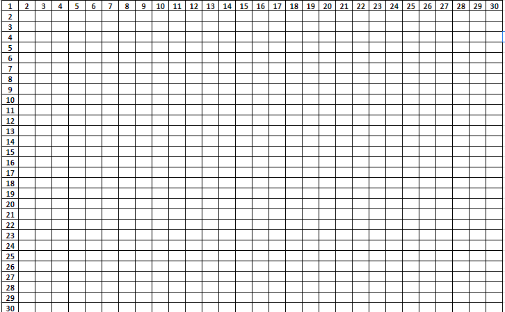 Multiplication Tables From 1 To 30 PDF