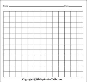 Multiplication Chart 12×12 Blank