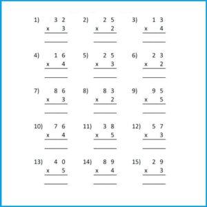 Multiplication Word Problem Worksheet For Grade 3