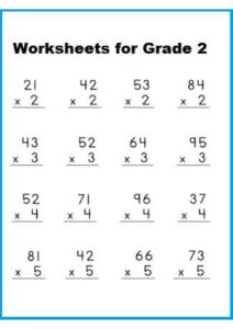 Multiplication Worksheet For Grade 2 with Pictures pdf