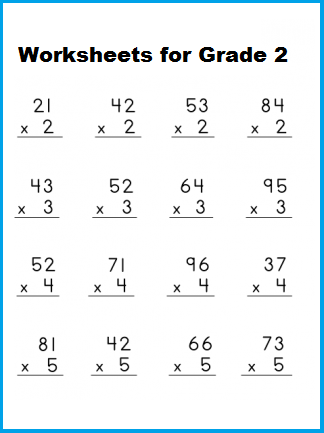Multiplication Worksheet For Grade 2 with Pictures